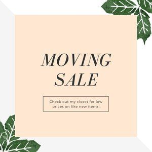 Moving Closet Clear Out Sale